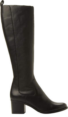 0d2c3f70ea8 Dune Black Teyla stretch leather knee high boots