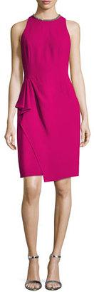 Carmen Marc Valvo Sleeveless Ruffle-Trim Sheath Dress, Fuchsia $595 thestylecure.com