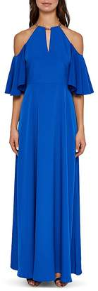 Ted Baker Bennah Cold-Shoulder Maxi Dress