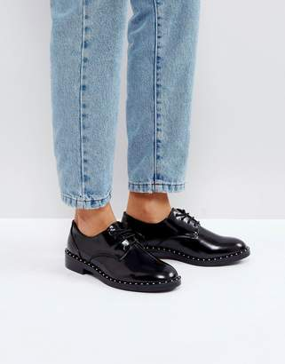 Pull&Bear Patent And Stud Detail Shoe