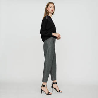 Maje Wool-blend twill pants
