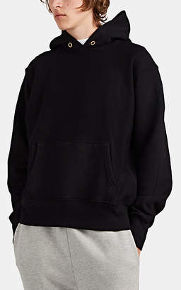 Les Tien Men's Cotton Mock-Turtleneck Hoodie - Black