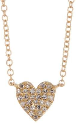 Ron Hami 14K Yellow Gold Pave Diamond Heart Pendant Necklace - 0.09 ctw