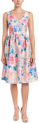 Champagne & Strawberry Floral A-Line Dress