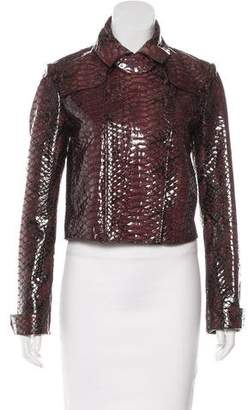 Burberry Embossed Patent Leather Jacket