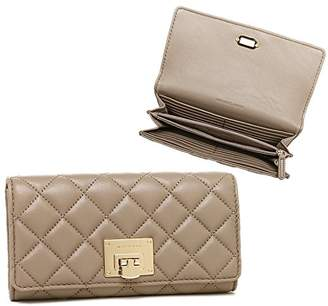 Michael Kors MICHAEL Astrid Soft Quilted Leather Carry All Wallet /Gold