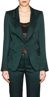 Boon The Shop Women's Washed Satin One-Button Blazer