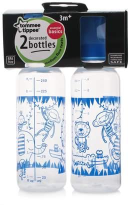 Tommee Tippee Essential Basics Standard Neck Decorated Bottles 2x 250ml/9floz