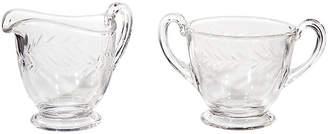 One Kings Lane Vintage 1960s Fostoria Glass Sugar & Creamer Set - 2-b-Modern