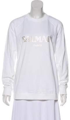 Balmain Logo Long Sleeve Sweatshirt