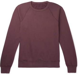 SAVE KHAKI UNITED Fleece-Back Supima Cotton-Jersey Sweatshirt - Men - Grape