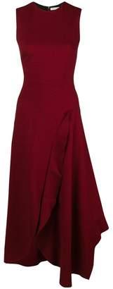 Victoria Beckham asymmetric ruffled detail dress