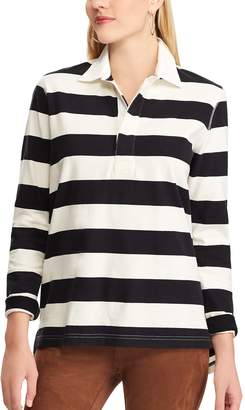 Chaps Women's Striped Rugby Shirt