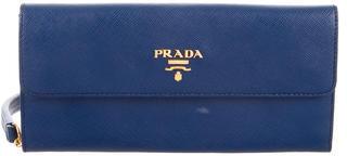 pradaPrada Saffiano Oro Wallet
