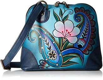 Anuschka Handpainted Leather Small Multi Compartment Zip-Around Denim Paisley Floral $107.88 thestylecure.com