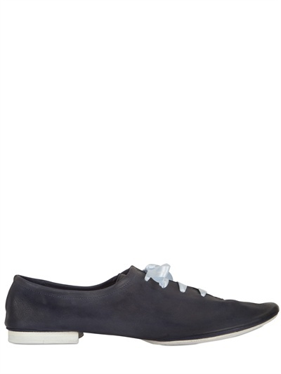 Raparo Soft Leather Deconstructed Lace-Up Shoes