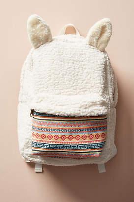 Anthropologie Fuzzy Llama Backpack