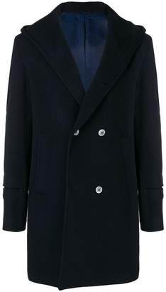 Daniele Alessandrini hooded double breasted coat