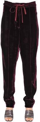 Nina Ricci Fluid Velvet Sweatpants