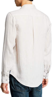 Report Collection Men's Washed Sport Shirt
