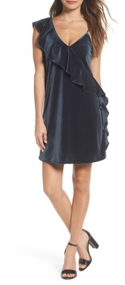 Women's 19 Cooper Ruffle Velvet Dress