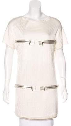 Lanvin Quilted Short Sleeve Tunic