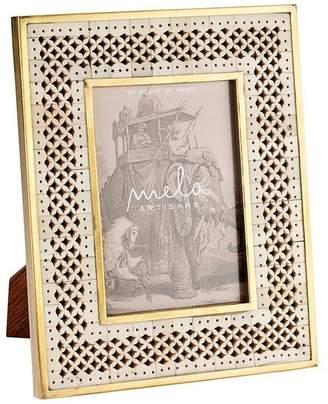 "Mela Artisans Off-White Photo Frame ""Chantilly"""