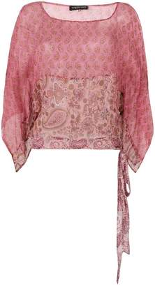 Twin-Set sheer patterned blouse