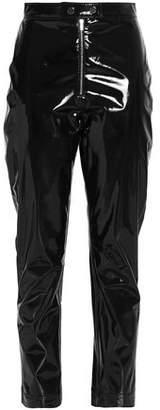 MSGM Cropped Pvc Slim-leg Pants