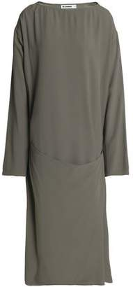 Jil Sander Wrap-effect Crepe Dress