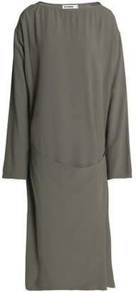 Jil Sander Wrap-Effect Crepe Dress