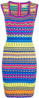 Milly graphic bodycon dress