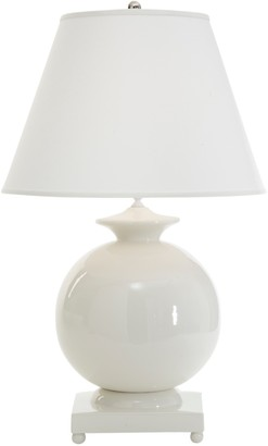 White Italian Ceramic Table Lamp with Shade - LOW STOCK,ORDER NOW