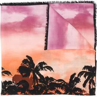Valentino palm tree print scarf