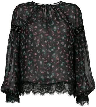Pinko (ピンコ) - Pinko paisley riveted lace trim blouse