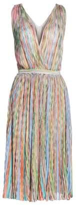 Missoni Surplice Neck Stripe Midi Dress