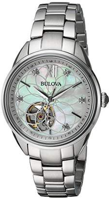 Bulova Women's Automatic Stainless Steel Casual Watch, Color:Silver-Toned (Model: 96P181) $337.50 thestylecure.com