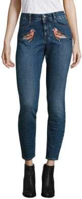 Peserico Embroidered Skinny Jeans