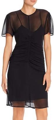 Rag & Bone Maris Sheer Silk Mini Dress with Slip