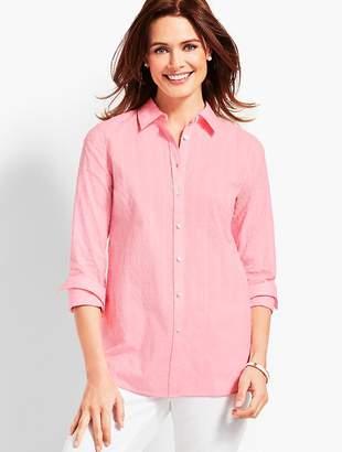 Talbots Classic Cotton Shirt- Clip Dot
