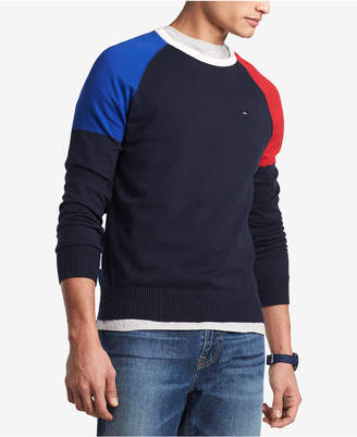 Tommy Hilfiger Men's Perry Colorblocked Raglan-Sleeve Sweater, Created for Macy's