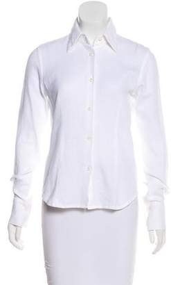 Moncler Collared Button-Up Top