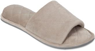 Dearfoams Women's Microfiber Velour Slide Slippers