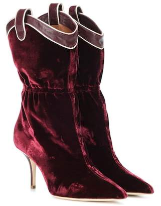 Malone Souliers Daisy velvet ankle boots