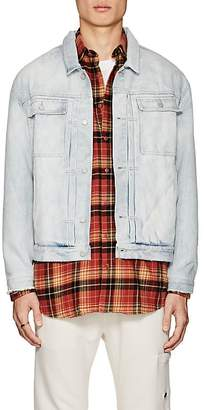 Stampd Men's Button-Tab Denim Jacket