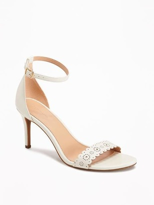 Laser-Cut Strap Heeled Sandals for Women $36.94 thestylecure.com