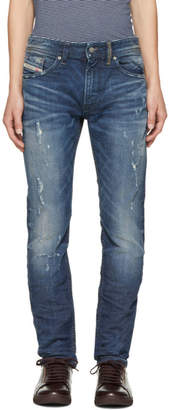 Diesel Blue Ripped Thommer Jeans