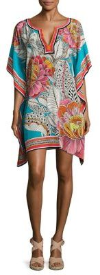 Trina Turk Theodora Floral-Printed Silk Dress $298 thestylecure.com
