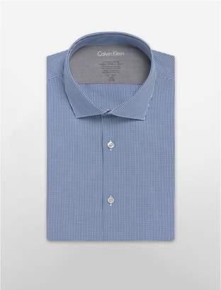 Calvin Klein x fit ultra slim fit mini-check dress shirt