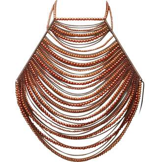 Jean Louis Scherrer Vintage Jean-louis Scherrer Orange Metal Necklace